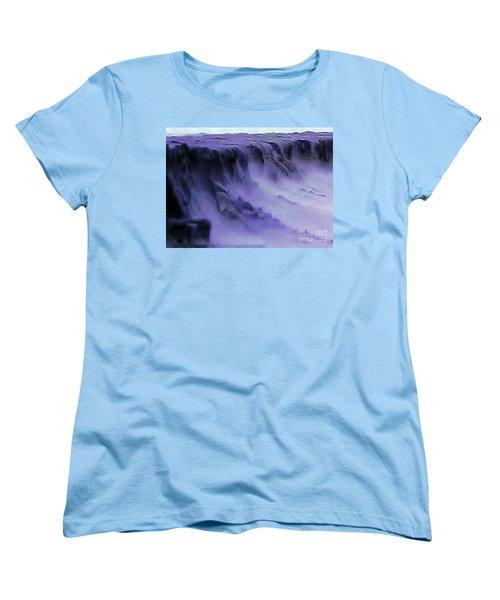 Women's T-Shirt (Standard Cut) featuring the photograph Alien Landscape The Aftermath by Blair Stuart