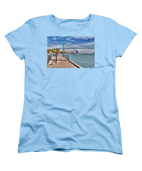 Ambassador Bridge Detroit Mi Women's T-Shirt (Standard Cut) by Nicholas  Grunas