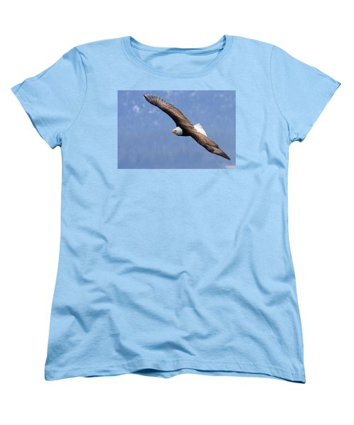 Women's T-Shirt (Standard Cut) featuring the photograph American Bald Eagle by Doug Lloyd