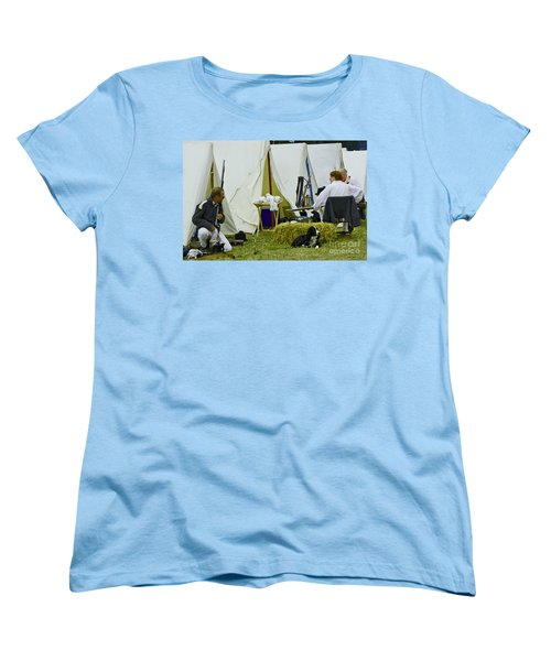 American Camp Women's T-Shirt (Standard Cut) by JT Lewis