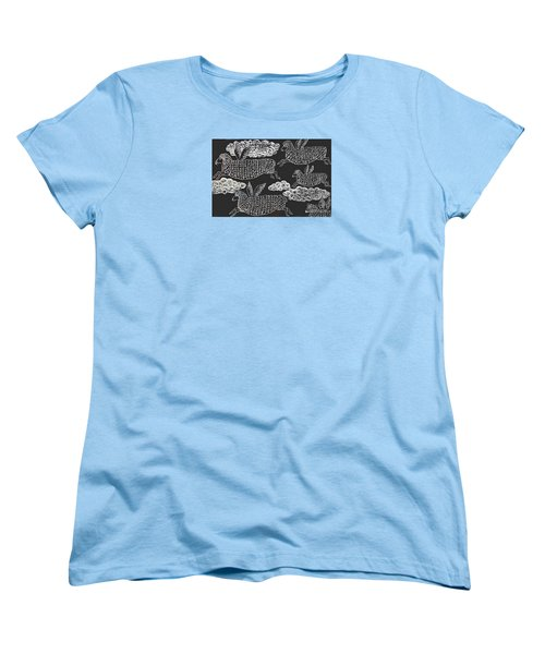 Women's T-Shirt (Standard Cut) featuring the drawing And Sheep Can Fly by Nareeta Martin