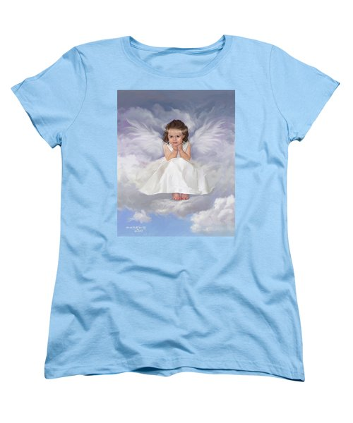 Women's T-Shirt (Standard Cut) featuring the painting Angel 2 by Rob Corsetti