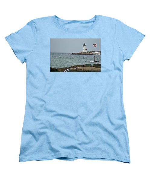 Annisquam Lighthouse Women's T-Shirt (Standard Cut) by Joe Faherty