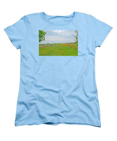 Antietam Battle Of The Cornfield Women's T-Shirt (Standard Cut) by Cindy Manero