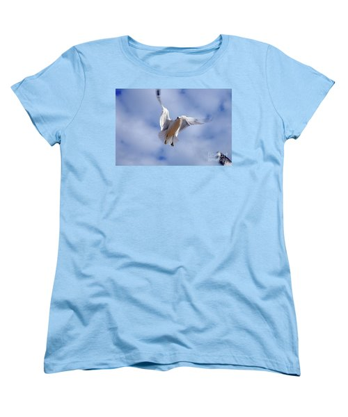 Women's T-Shirt (Standard Cut) featuring the photograph Applying Brakes In Flight by Clayton Bruster