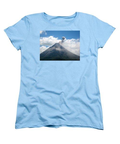 Women's T-Shirt (Standard Cut) featuring the photograph Arenal Eruption by Eric Tressler