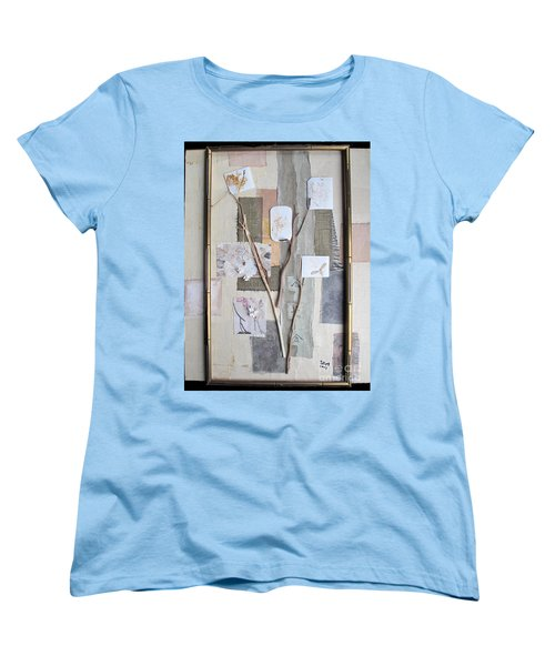 Women's T-Shirt (Standard Cut) featuring the mixed media Autumn by Sandy McIntire