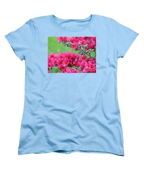 Women's T-Shirt (Standard Cut) featuring the photograph Azalea by Andrea Anderegg