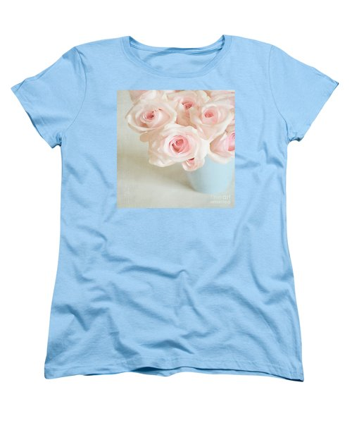 Baby Pink Roses Women's T-Shirt (Standard Cut) by Lyn Randle