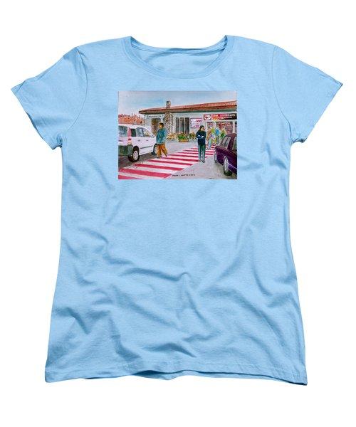 Bar Ristorante Mt. Etna Sicily Women's T-Shirt (Standard Cut) by Frank Hunter