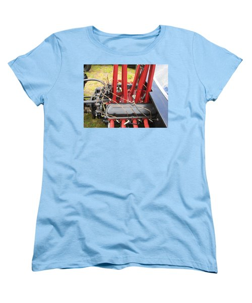 Women's T-Shirt (Standard Cut) featuring the photograph Barbwire Engine by Kym Backland