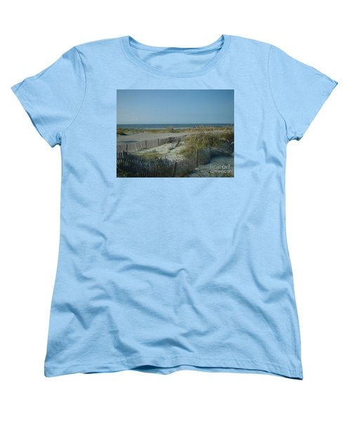 Barely Fenced Women's T-Shirt (Standard Cut) by Mark Robbins