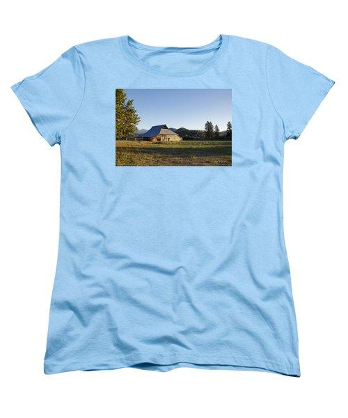 Barn In The Applegate Women's T-Shirt (Standard Cut) by Mick Anderson