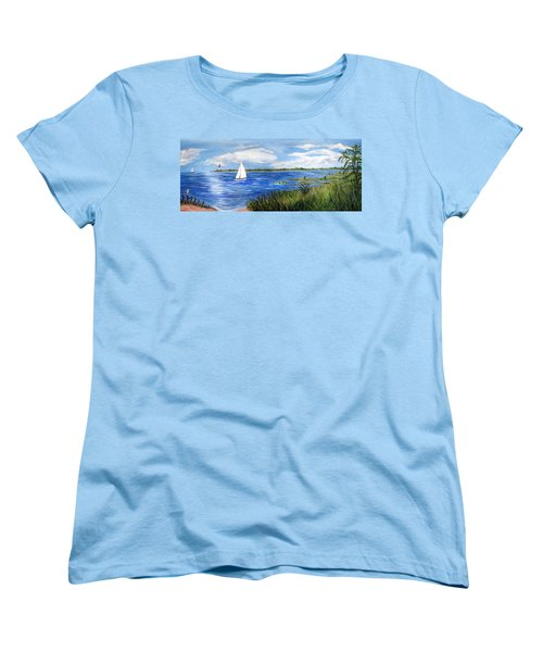 Bayville Marsh Women's T-Shirt (Standard Cut) by Clara Sue Beym
