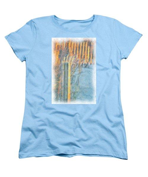 Beach Fence Women's T-Shirt (Standard Cut) by Lynne Jenkins