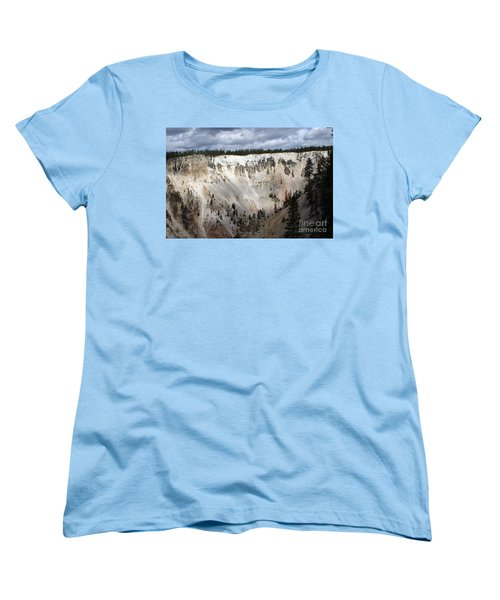 Beautiful Lighting On The Grand Canyon In Yellowstone Women's T-Shirt (Standard Cut) by Living Color Photography Lorraine Lynch