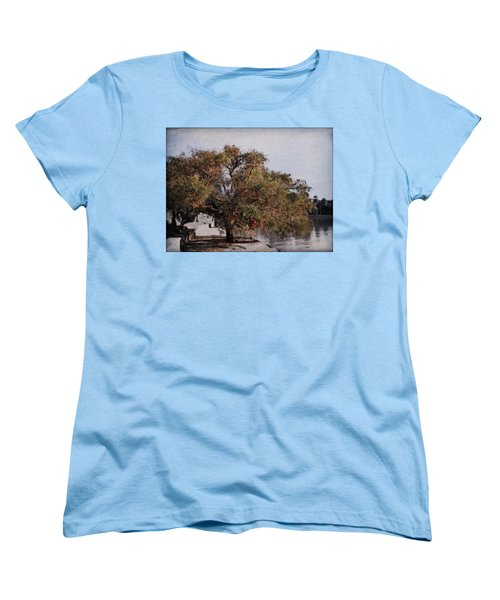Beauty On The Path Women's T-Shirt (Standard Cut) by Diane Dugas
