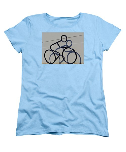 Women's T-Shirt (Standard Cut) featuring the photograph Bicycle Shadow by Julia Wilcox