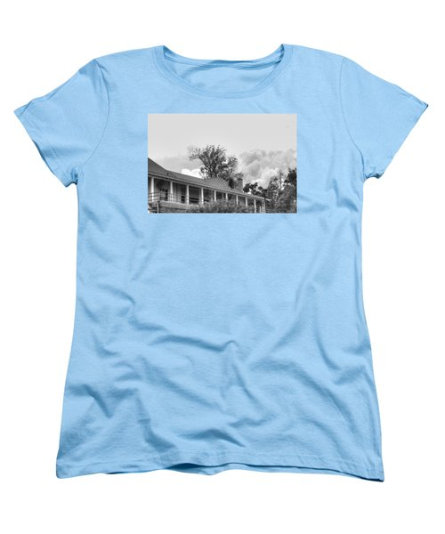 Women's T-Shirt (Standard Cut) featuring the photograph Black And White Delaware Casino by Michael Frank Jr