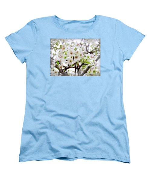 Women's T-Shirt (Standard Cut) featuring the photograph Blooming Ornamental Tree by Kay Novy