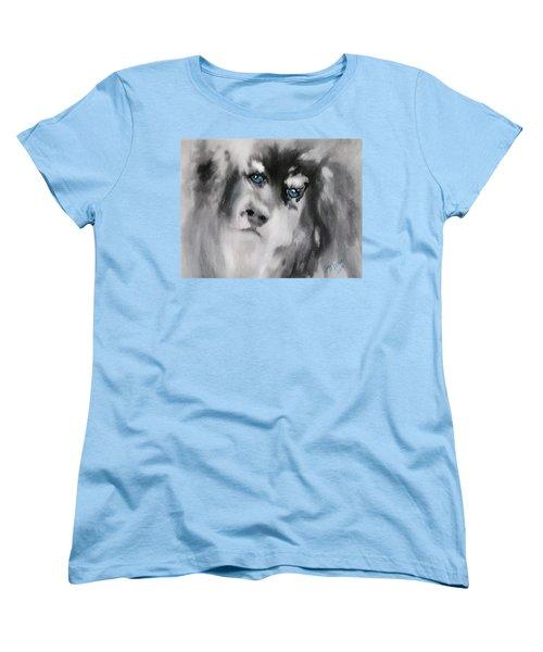 Blue Women's T-Shirt (Standard Cut) by Maris Sherwood