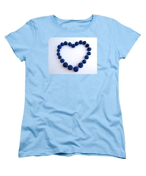 Blueberry Heart Women's T-Shirt (Standard Cut) by Julia Wilcox