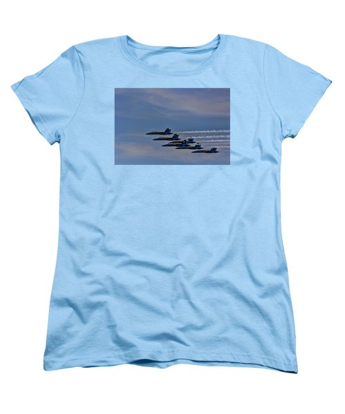 Women's T-Shirt (Standard Cut) featuring the photograph Blues by David Gleeson