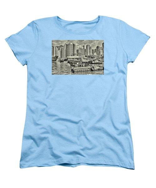 Boat Life In Hong Kong Women's T-Shirt (Standard Cut) by Joe  Ng