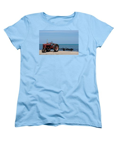 Women's T-Shirt (Standard Cut) featuring the photograph Boat Trailer by Barbara McMahon
