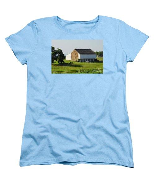 Brian Barn At Gettysburg Women's T-Shirt (Standard Cut) by Cindy Manero