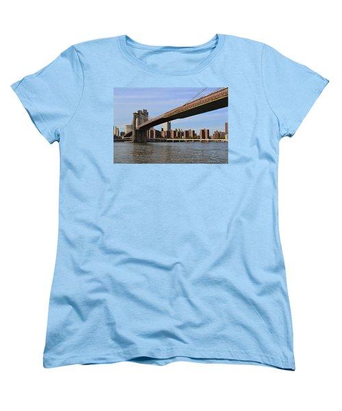 Women's T-Shirt (Standard Cut) featuring the photograph Brooklyn Bridge1 by Zawhaus Photography
