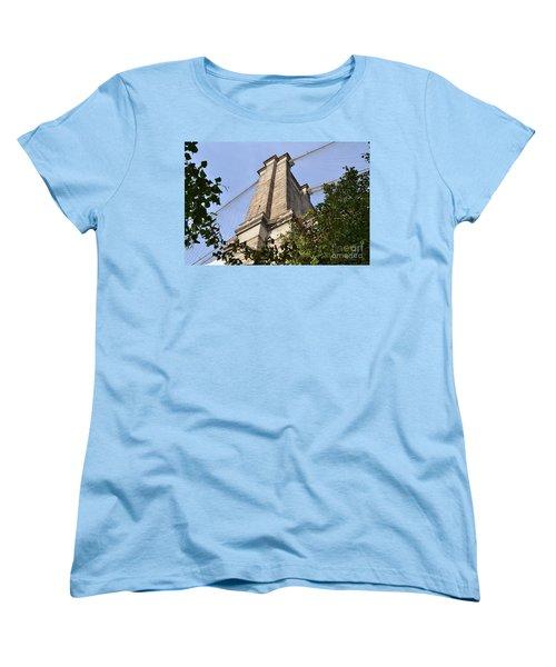 Women's T-Shirt (Standard Cut) featuring the photograph Brooklyn Bridge2 by Zawhaus Photography
