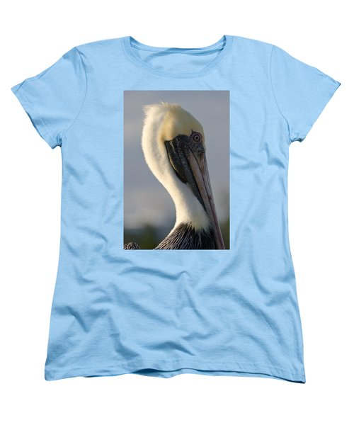Women's T-Shirt (Standard Cut) featuring the photograph Brown Pelican Profile by Ed Gleichman
