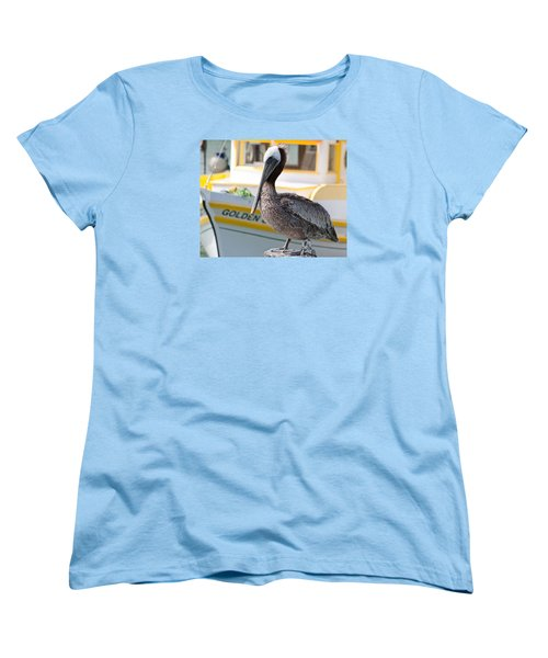 Women's T-Shirt (Standard Cut) featuring the photograph Brown Pelican by Randy Bayne