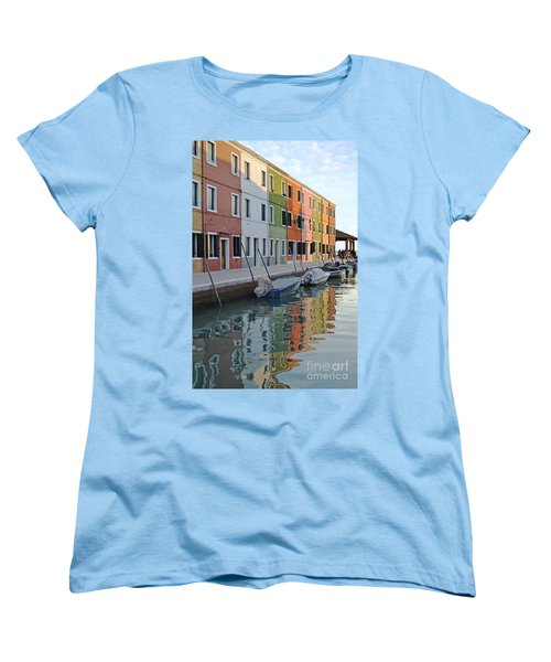 Women's T-Shirt (Standard Cut) featuring the photograph Burano Canal by Rebecca Margraf
