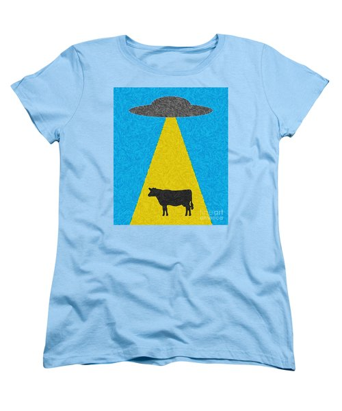 Women's T-Shirt (Standard Cut) featuring the digital art Burger To Go by Tony Cooper