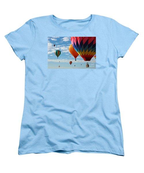 Busy Times Women's T-Shirt (Standard Cut) by Vivian Christopher