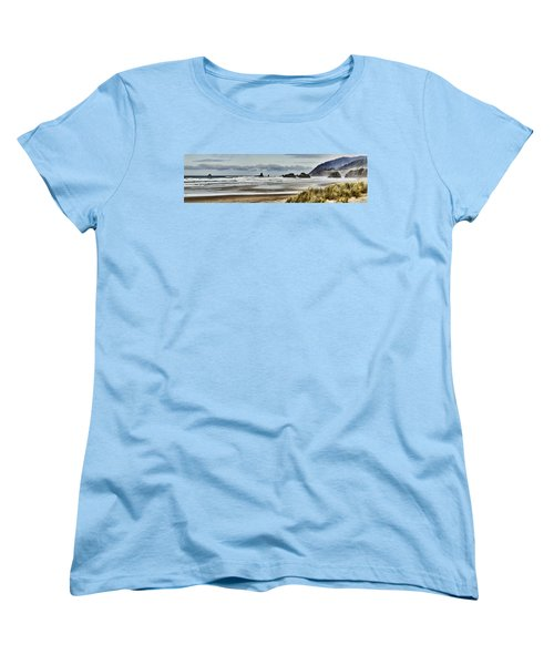 By The Sea - Seaside Oregon State  Women's T-Shirt (Standard Cut) by James Heckt