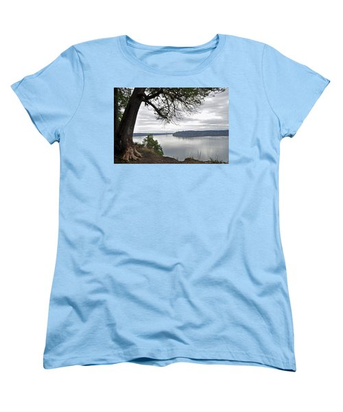 By The Still Waters Women's T-Shirt (Standard Cut) by Tikvah's Hope