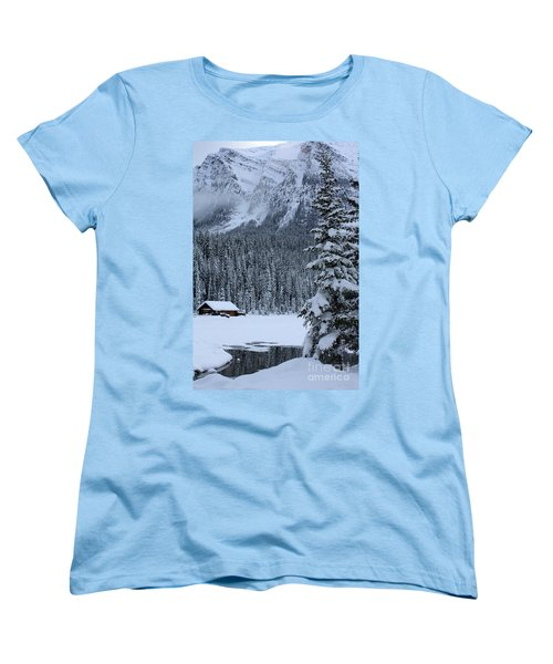 Cabin In The Snow Women's T-Shirt (Standard Cut) by Alyce Taylor