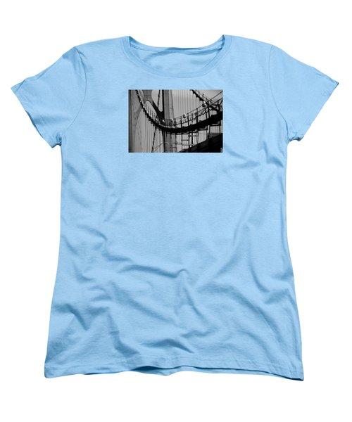 Women's T-Shirt (Standard Cut) featuring the photograph Cables by John Schneider