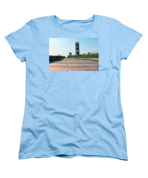 Women's T-Shirt (Standard Cut) featuring the photograph Caged Beauty 1 by Tony Cooper