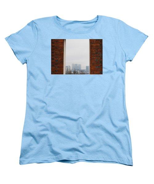 Women's T-Shirt (Standard Cut) featuring the photograph Canary Wharf View by Maj Seda