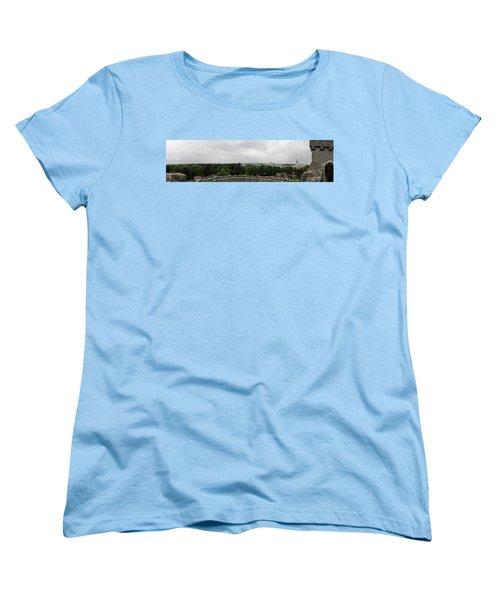 Cardiff Castle Panorama Women's T-Shirt (Standard Cut) by Ian Kowalski