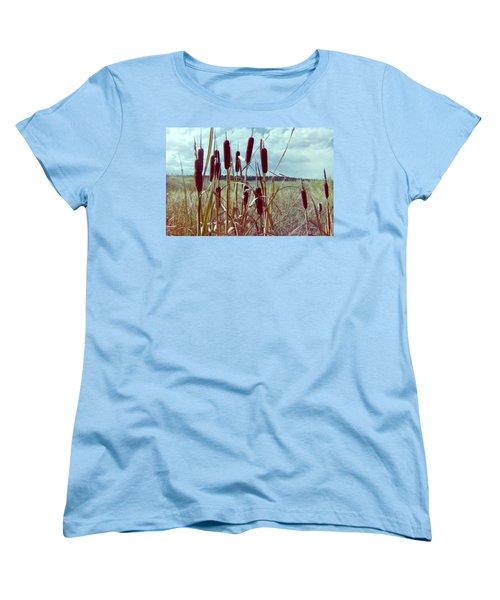 Women's T-Shirt (Standard Cut) featuring the photograph Cat Tails by Bonfire Photography