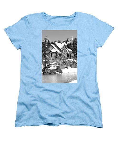 Chapel On The Rocks No. 2 Women's T-Shirt (Standard Cut) by Dorrene BrownButterfield
