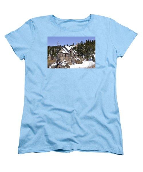 Chapel On The Rocks No. 3 Women's T-Shirt (Standard Cut) by Dorrene BrownButterfield