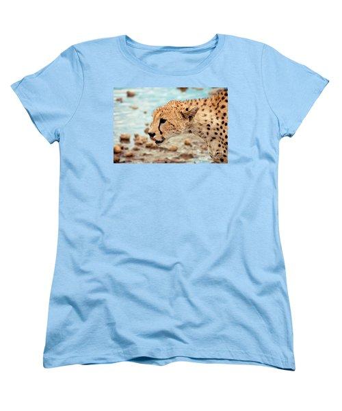 Cheetah Headshot Women's T-Shirt (Standard Cut) by Darcy Michaelchuk