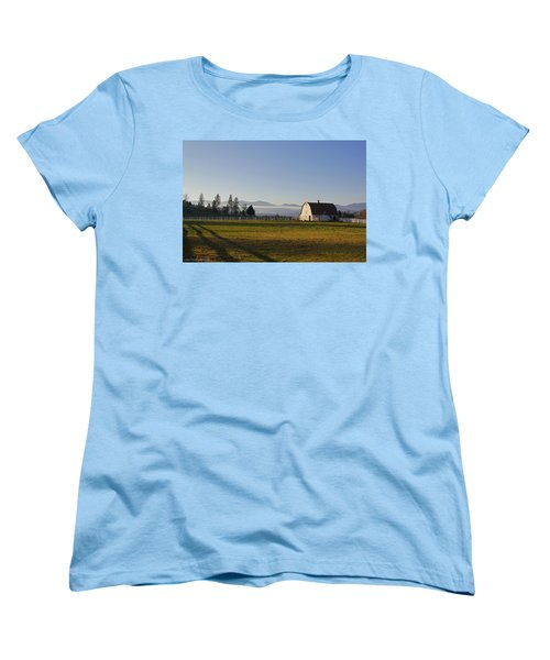 Classic Barn In The Country Women's T-Shirt (Standard Cut) by Mick Anderson