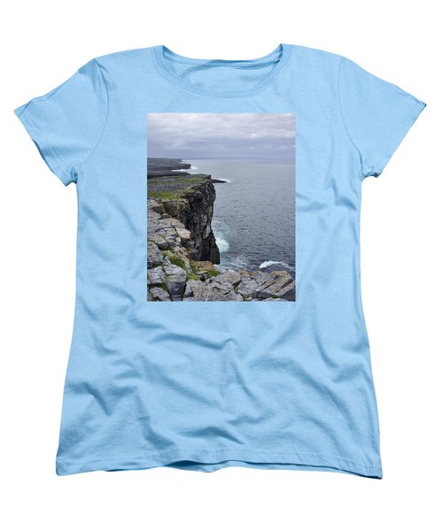 Women's T-Shirt (Standard Cut) featuring the photograph Cliffs Of Inishmore by Hugh Smith